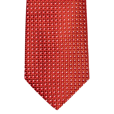 Red Waffle Silk Tie
