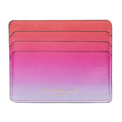 Faded Pink Leather Card Holder