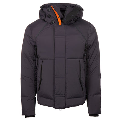 Grey High Fill Duck Down Quilted Jacket