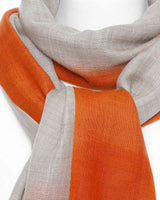 Damenschal beige orange