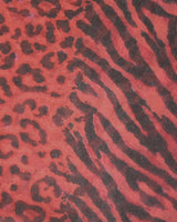 Damenschal Animalprint rot