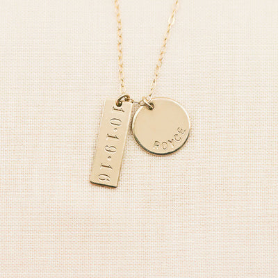 Bar and Disc Necklace