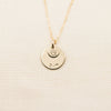 "Dainty Disc w/ Pendant Necklace - 1/2"" + 1/4"""