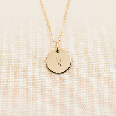 Dainty Disc Necklace - 1/2""