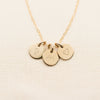 Multi Petite Disc Necklace - 3/8""