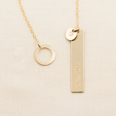 Personalized Lariat Necklace