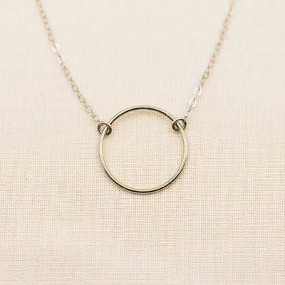 Minimalist Open Circle Necklace