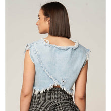 Load image into Gallery viewer, Denim Crop Top