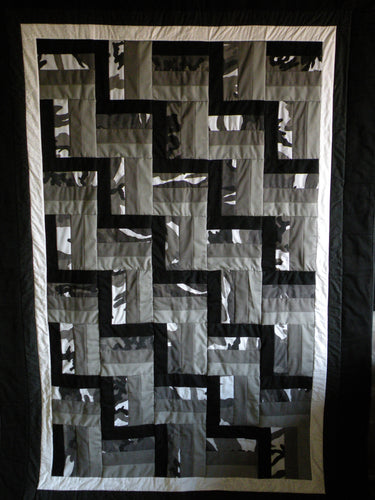Rail Fence Memory Quilt