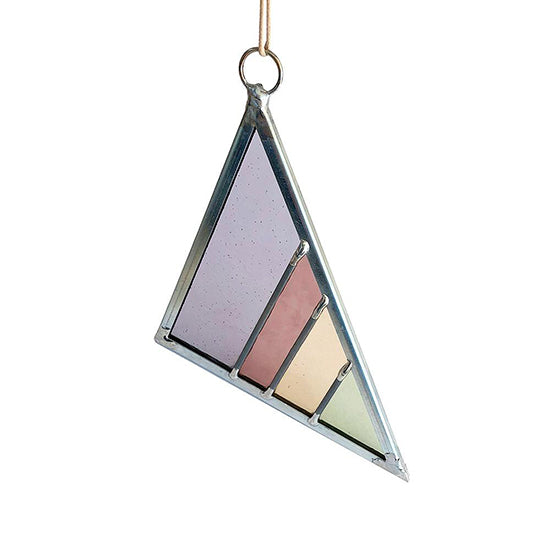 Debbie Bean - Stained Glass Triangles - Violet