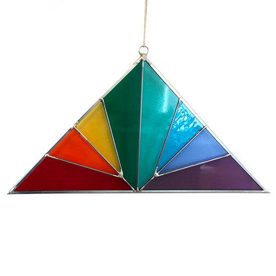 Debbie Bean - Large Stained Glass Rainbow Suncatcher