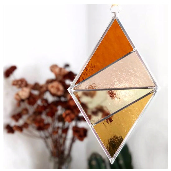 Debbie Bean - Stained Glass Ornament Diamond - Buckwheat Field