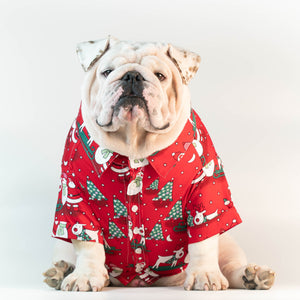WONTON DESIGN Christmas shirt with short sleeve in red (LIMITED EDITION)