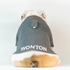 WONTON T-Shirt in dark grey - WontonCollection