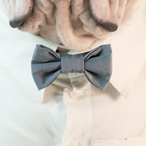 WONTON BOW TIE in grey - WontonCollection