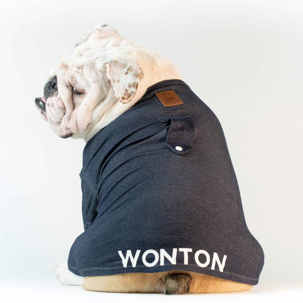 WONTON T-Shirt in navy - WontonCollection