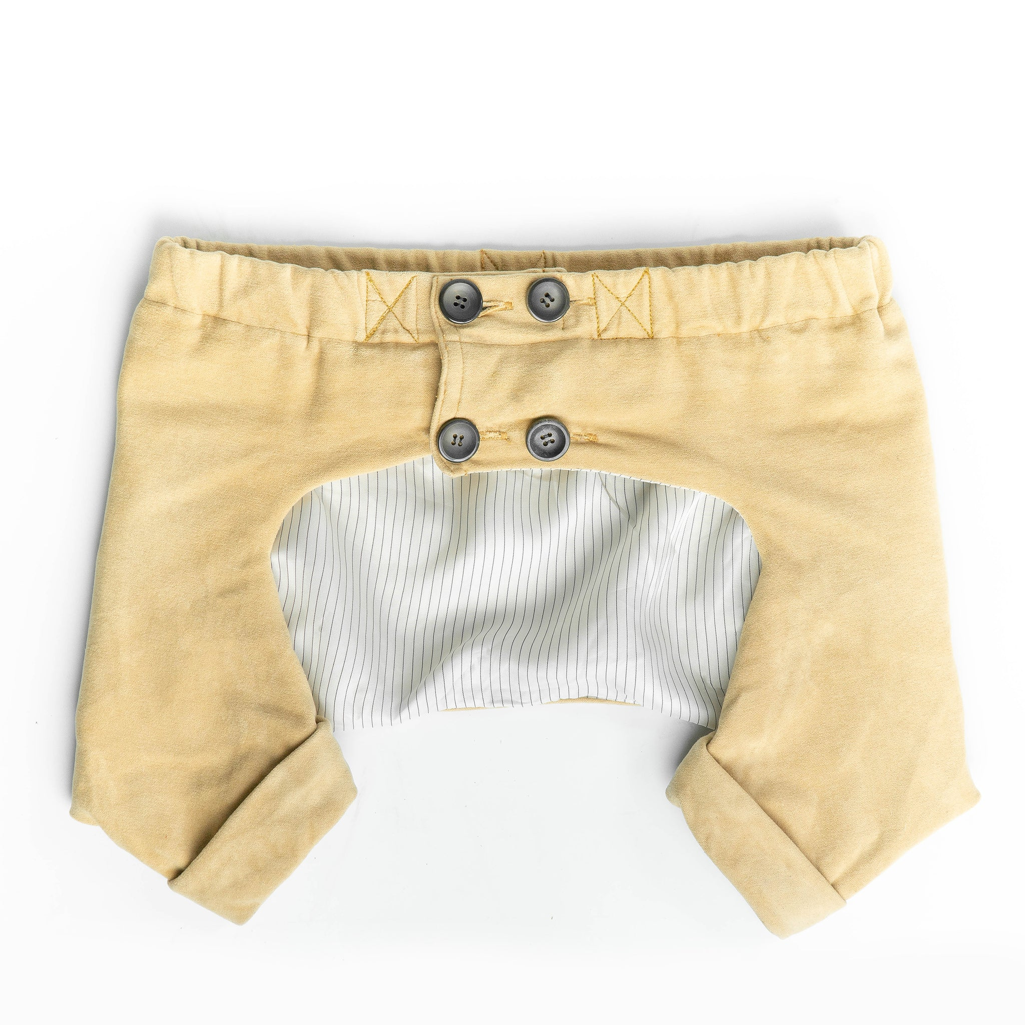WONTON One Pants in Beige - WontonCollection