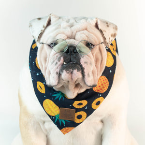 WONTON DESIGN Pineapple bandana in navy - WontonCollection