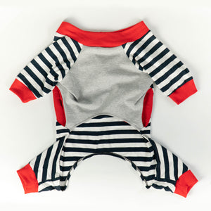 WONTON DESIGN See You Tomorrow onesie pajama in striped design - WontonCollection