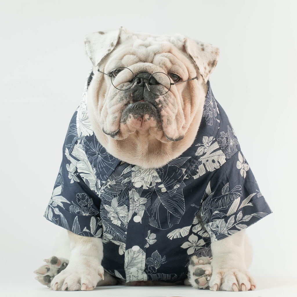 WONTON Love Me All Summer Shirt in navy
