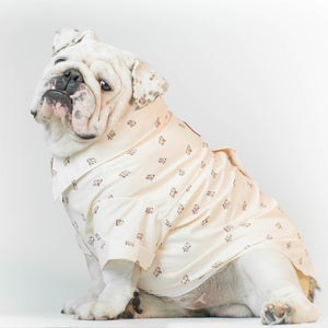 WONTON DESIGN Bulldog shirt with short sleeve (Pima cotton)