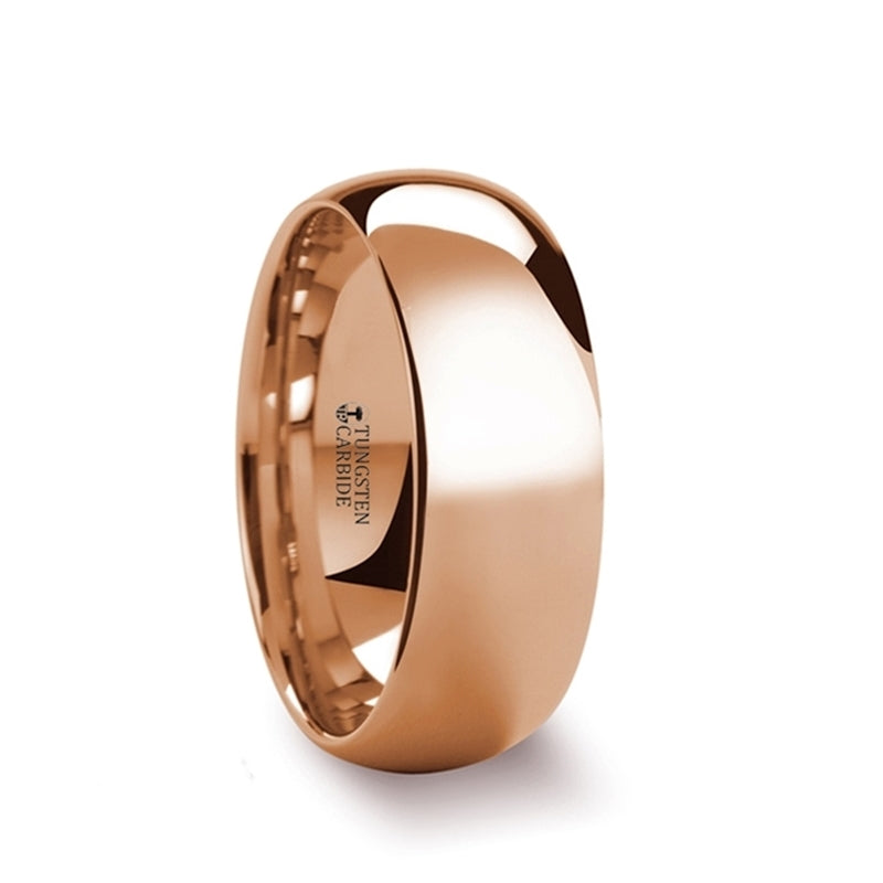Rose Gold Coated Tungsten Carbide wedding ring
