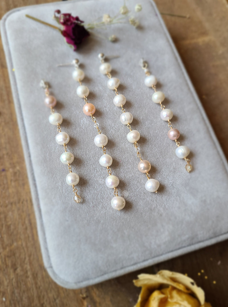 Pearl Wonder Jacket Earrings