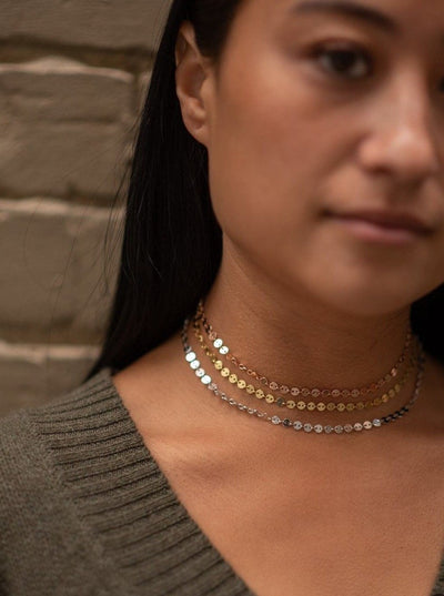 Thick Sparkle Choker in Gold