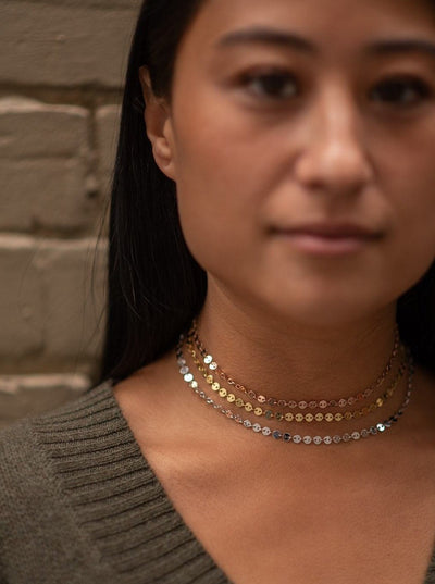 Thick Sparkle Choker in Rose Gold