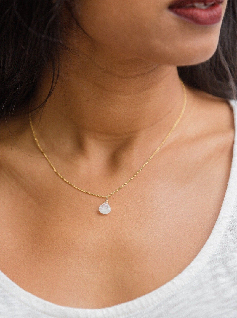 Custom Teardrop Necklace - Gold