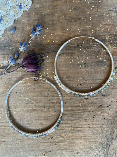 Thrilling Me Softly Beaded Hoops