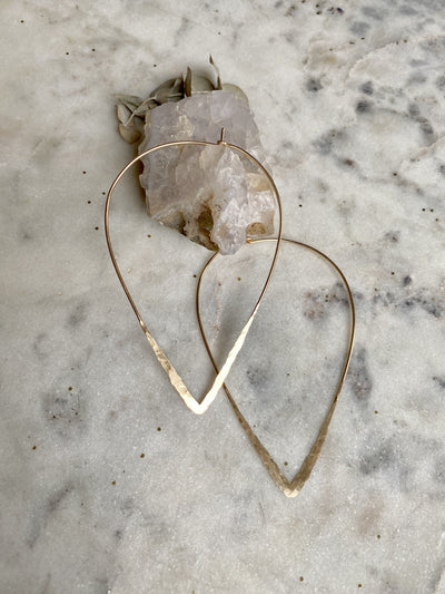 The Hammered Teardrop Dream in Gold Filled - Large
