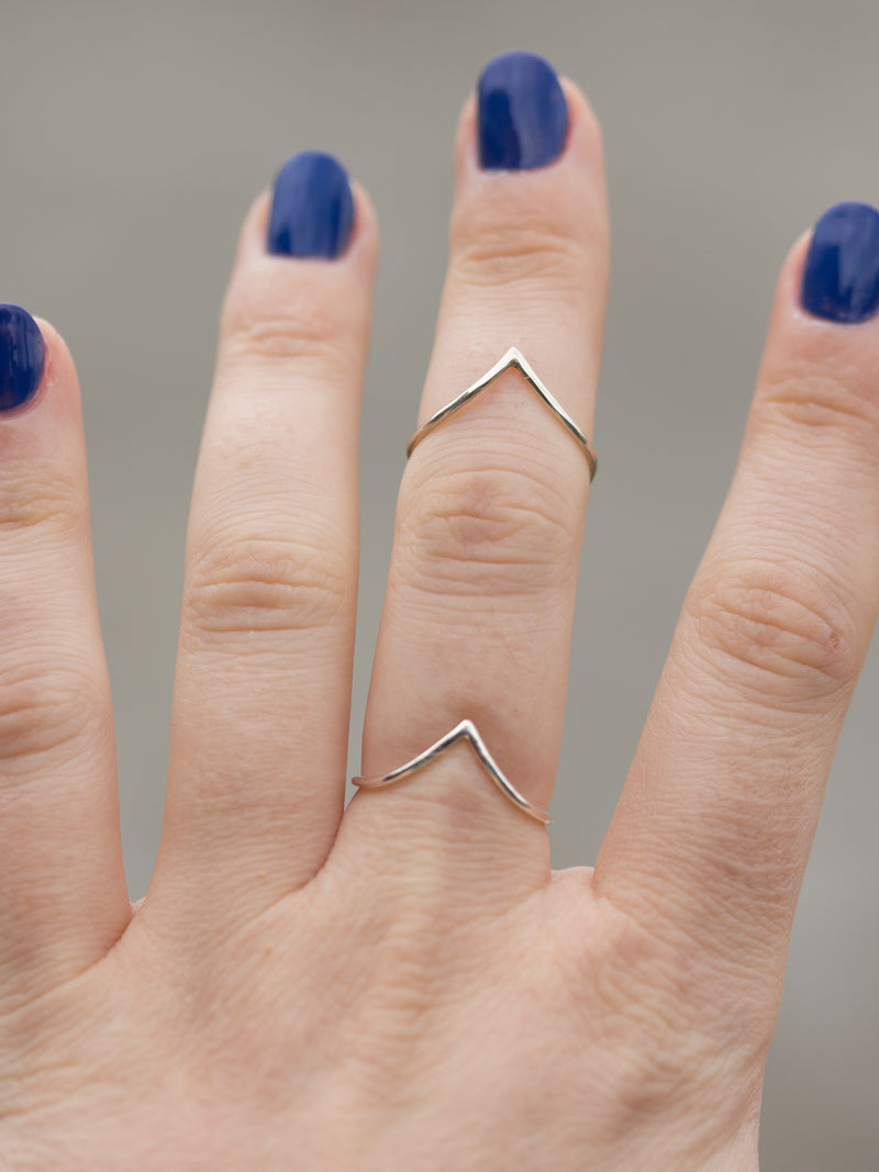 Sterling Silver V Stacking Ring