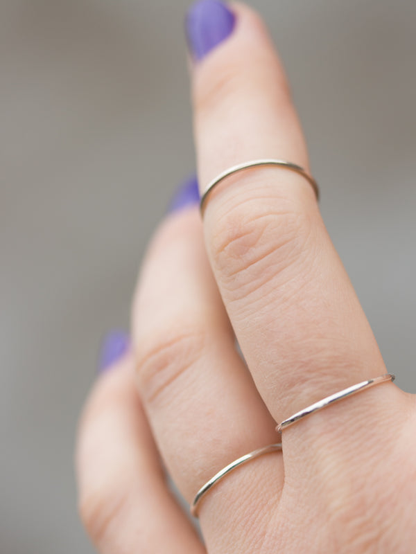 Plain Stacking Ring in Sterling Silver