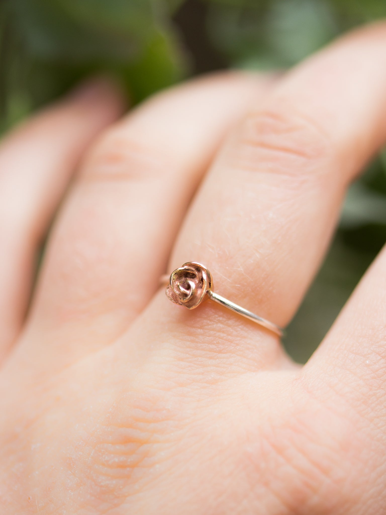 Large Kissed by a Rose Ring in Rose Gold