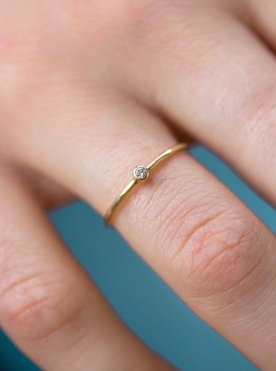 Baby Diamond Beauty in Yellow Gold