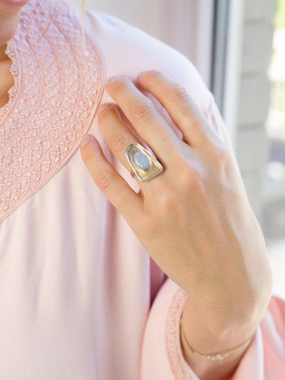 Vintage Opal Table Top Ring