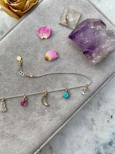 Moon Charm Treasure Anklet