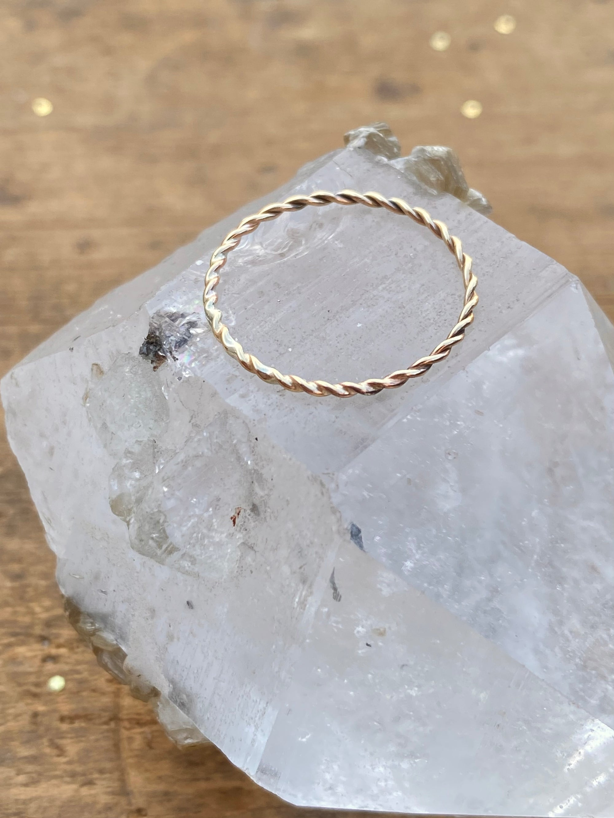 10K Yellow Gold Rope Stacking Ring