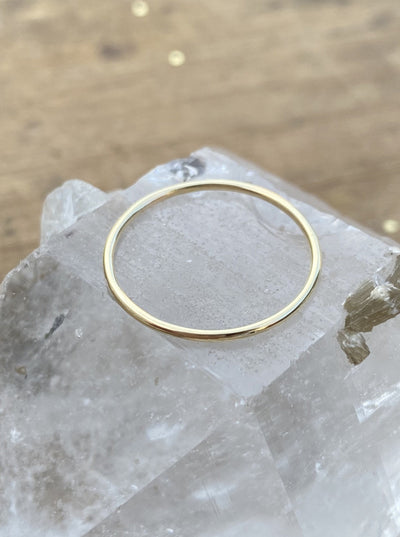 10K Yellow Gold Smooth Stacking Ring