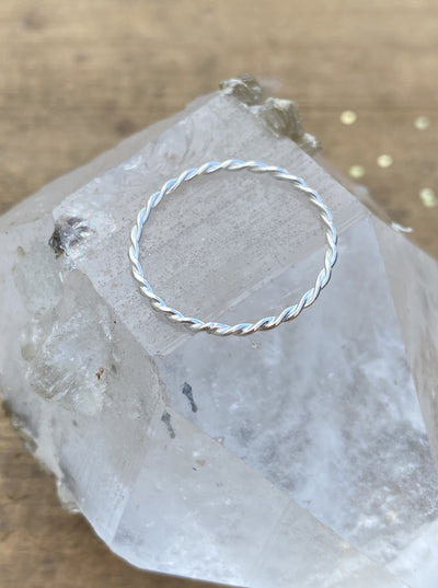 Sterling Silver Rope Stacking Ring