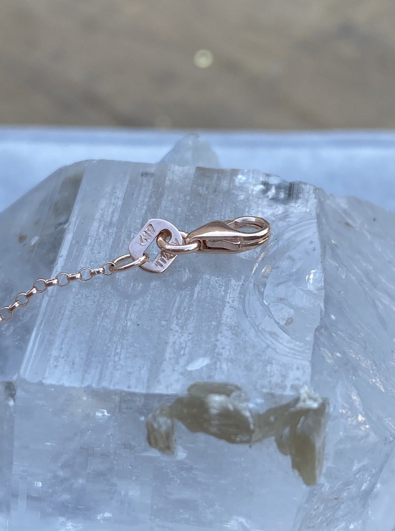 10K Rose Gold Rolo Chain