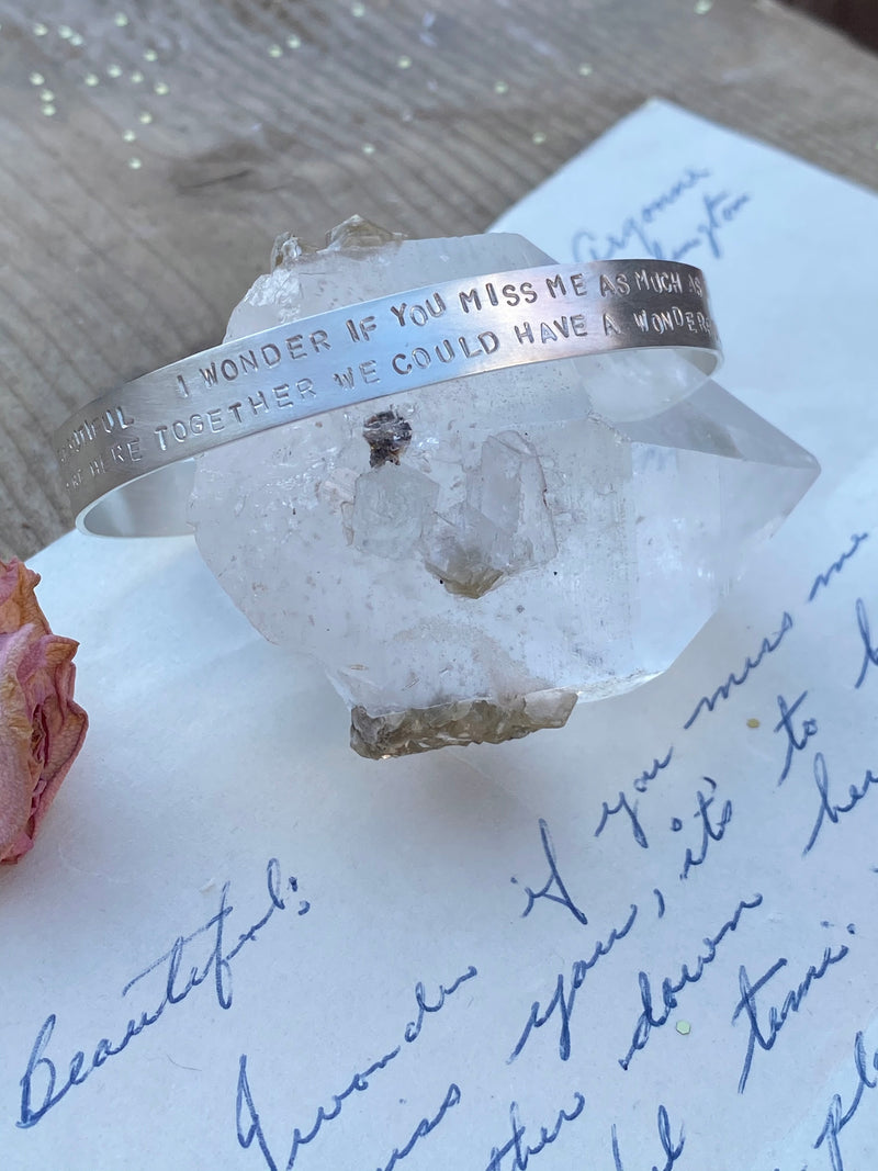 The Personalized Love Note Cuff