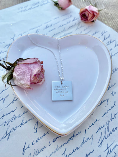 The Stamped Plate Necklace
