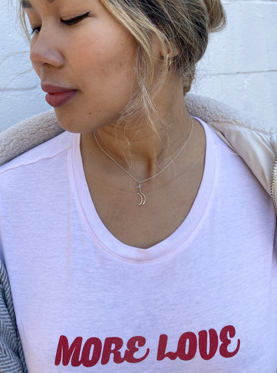 Moon Child 10K Dainty Necklace