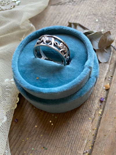 Vintage Elephants Loyalty Ring