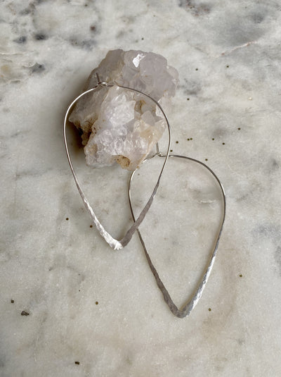 The Hammered Teardrop Dream in Sterling Silver - Medium