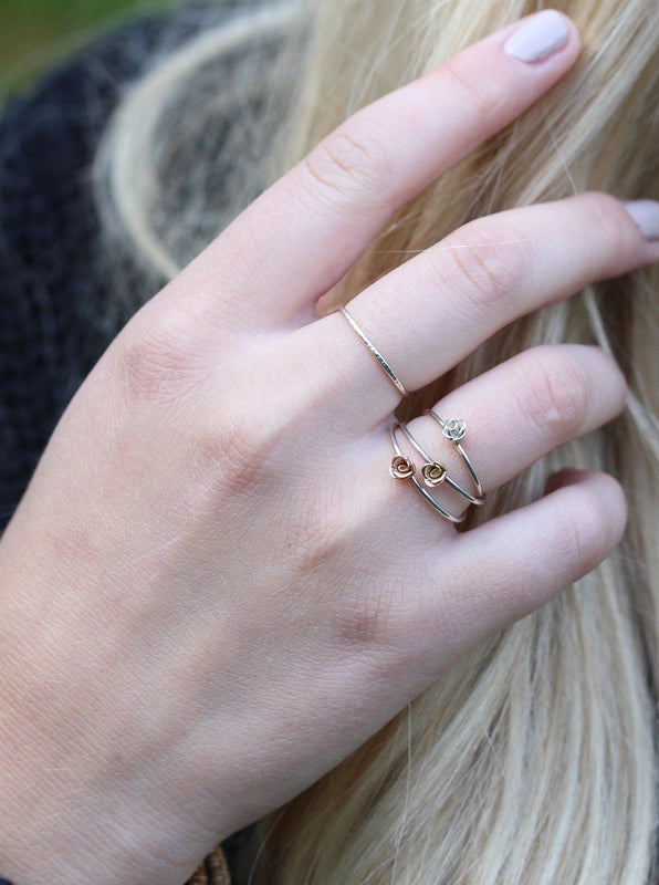 Kissed by a Rose Ring in Yellow Gold