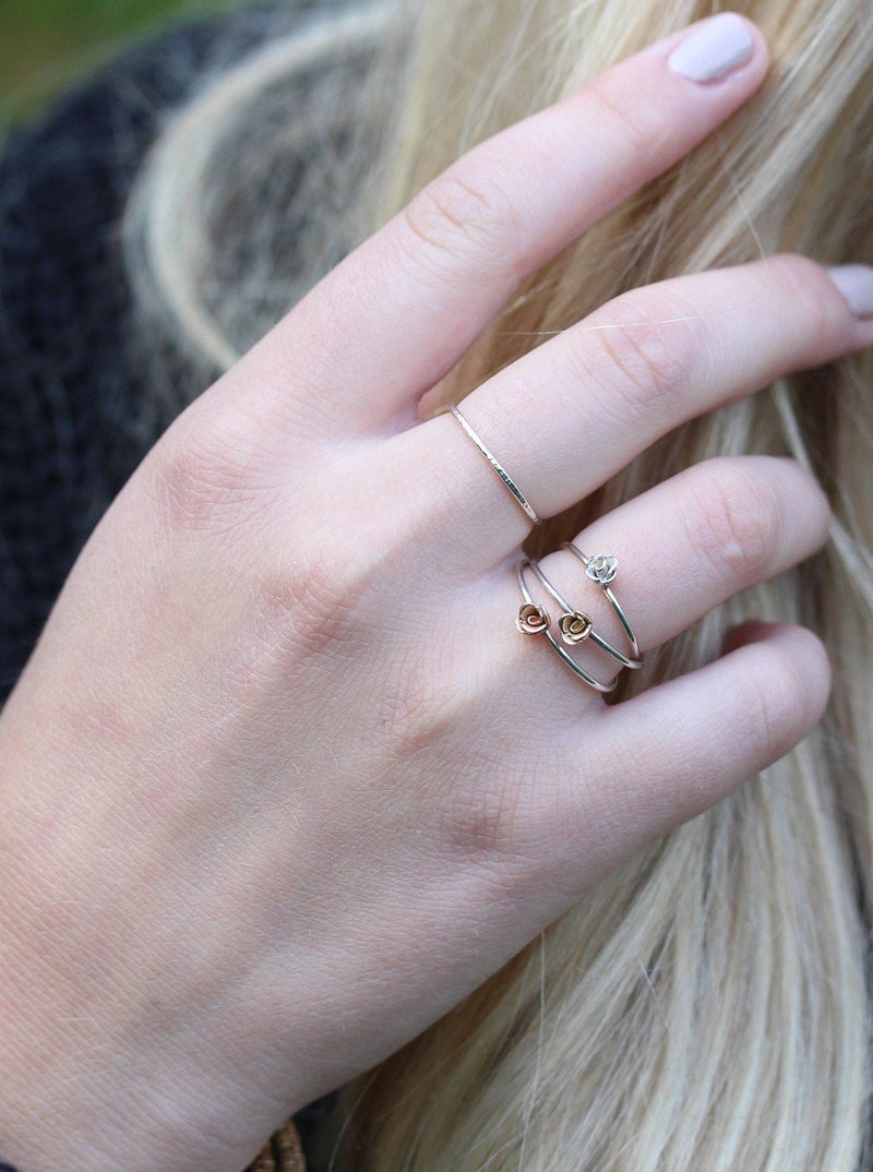 Small Kissed by a Rose Ring in Yellow Gold