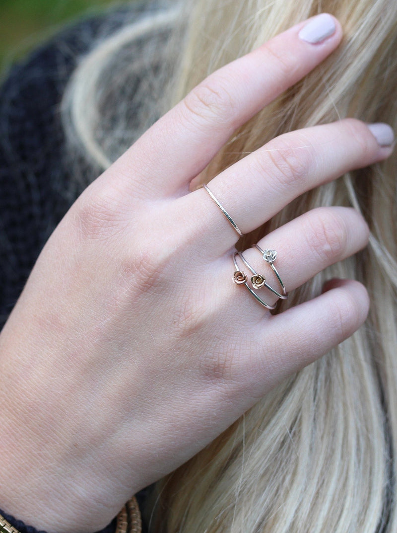 Small Kissed by a Rose Ring in Rose Gold